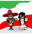 Welcome to Mexico people vector image