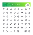 Plant Line Icons Set vector image