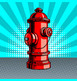 fire hydrant pop art style vector image