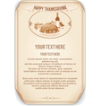 Retro Style Thanksgiving Background vector image vector image