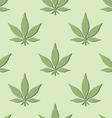 seamless marijuana leaf pattern vector image vector image