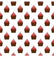 Cake pattern seamless vector image