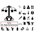 Set of 24 Baby Icons vector image