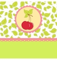Blank template for cherry greetings card vector image vector image