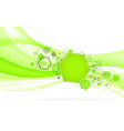 Abstract green background with hexagon vector image