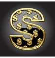 black letter with dollars vector image