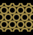 classic gold patterns with 3d effect on black vector image