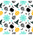halloween seamless pattern white vector image