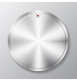 Metal round button multimedia vector image