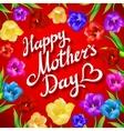mothers day vintage lettering background vector image