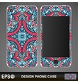 Phone case design vector image