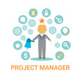 project manager icon business process leader vector image