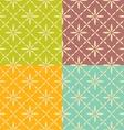 Seamless flower geometric pattern vector image