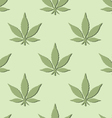 seamless marijuana leaf pattern vector image