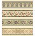 Set of four decorative borders ornamental vector image