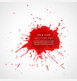 Red splatter ink drop effect vector image