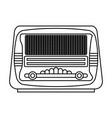 isolated retro radio vector image