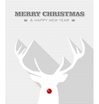 Merry Christmas red dot white Rudolph reindeer vector image