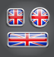 United Kingdom Flag buttons vector image