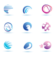 set of abstract globe icons logo templates vector image vector image