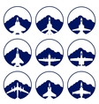 The icons of military aviation vector image vector image