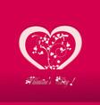 Valentine heart pink background vector image
