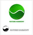 Nature harmony logo design template vector image
