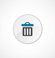 trash bin icon 2 colored vector image