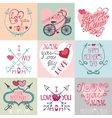 Mothers day cards setArrows decor elements vector image