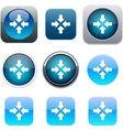 Click here blue app icons vector image