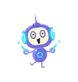 Happy Little Robot With Two Antennas vector image