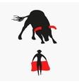Bull and matador vector image