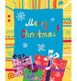 Christmas presents card vector image