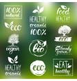 eco organic bio logos handwritten vector image