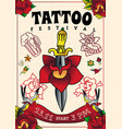 tattoo festival poster vector image