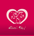 Valentine heart pink background vector image