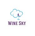 wine sky vector image