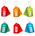 Set of colorrful sale tags Concept of discount vector image vector image