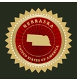 Star label Nebraska vector image