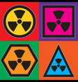 nuclear symbols vector image vector image