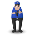 police patrolling stand vector image