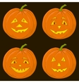 pumpkin jack o lantern set vector image
