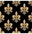 Vintage seamless golden fleur-de-lis pattern vector image