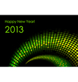 Green happy new year card 2013 vector image