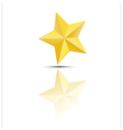 Golden star on white background vector image