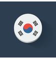 Round icon with flag of South Korea vector image