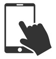touch smartphone flat icon vector image