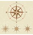 vintage compases set vector image