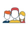 avatares social media group design flat vector image