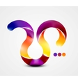 Colorful abstract swirl shape vector image vector image
